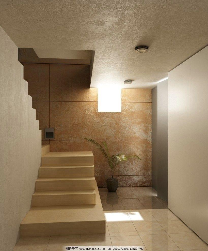 楼梯间场景模型 3d室内设计