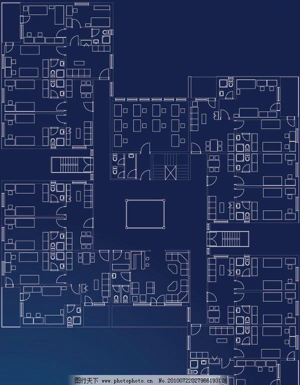 室内平面设计图矢量素材图片