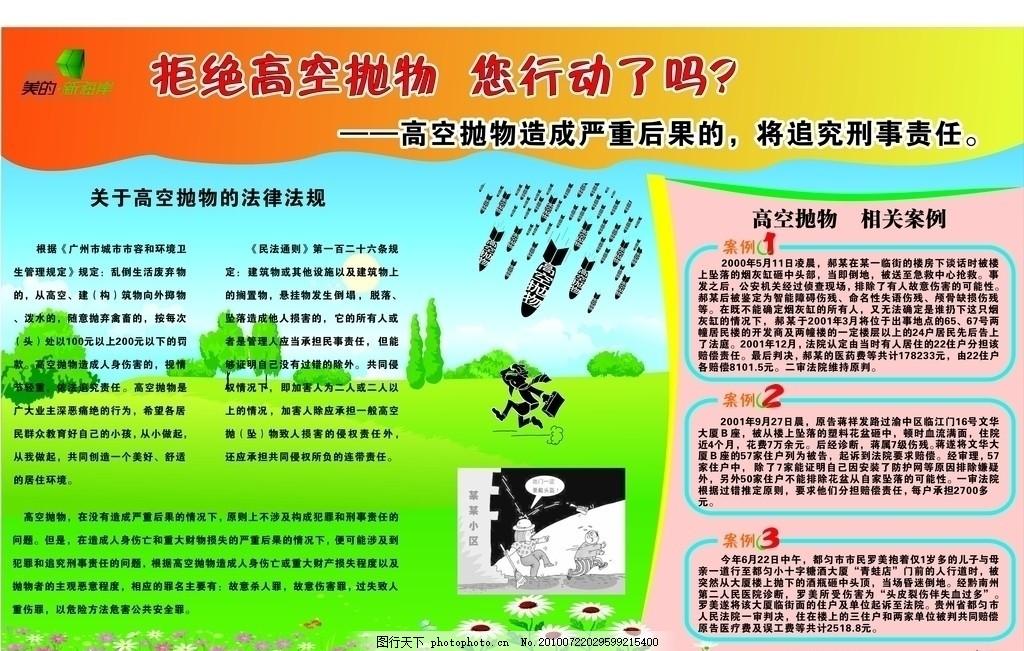 高中海报高空抛物海报,小区物业物业海报矢量小区学英语的专门上海图片