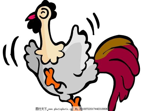 公鸡 可爱 卡通 漫画 鸡 矢量素材 可爱卡通动物 其他生物 生物世界
