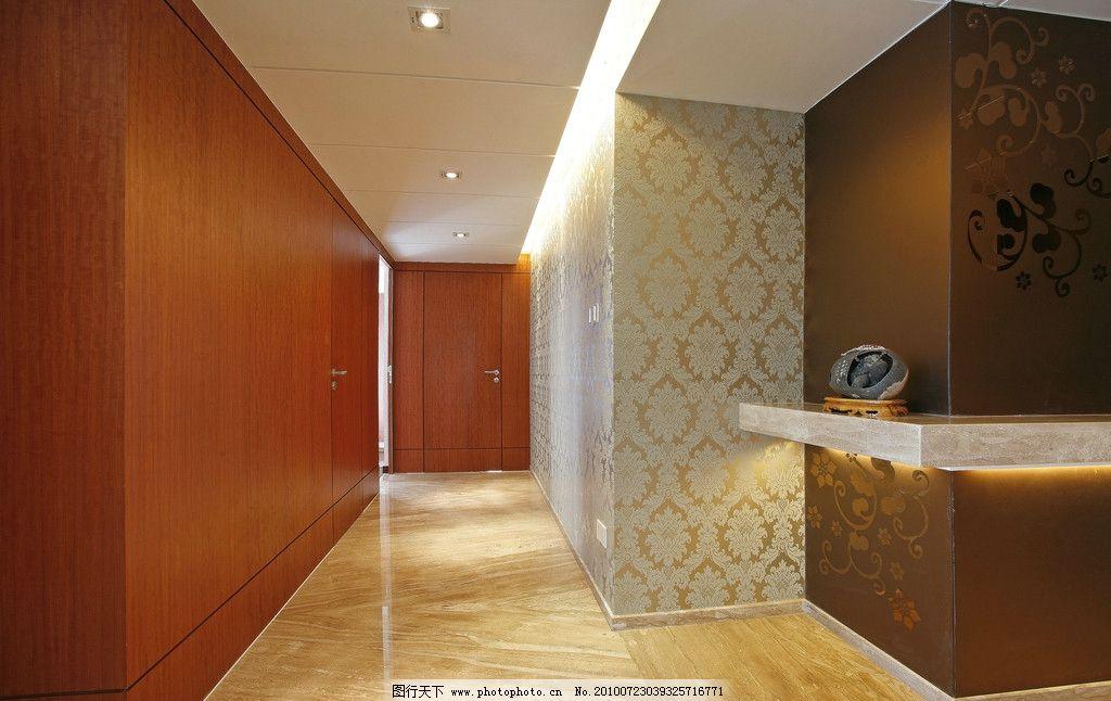 室内效果图 门 客厅走廊 墙纸 陶瓷铺效果图 室内摄影 建筑园林