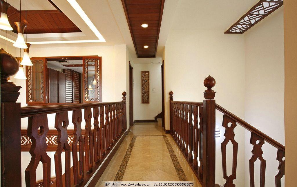 室内效果图 楼梯 楼梯走廊 中式装修效果图 陶瓷铺效果图 室内摄影