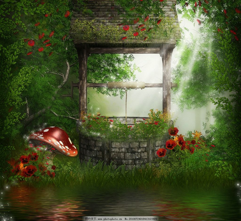 童话风格 小木屋 树下小屋