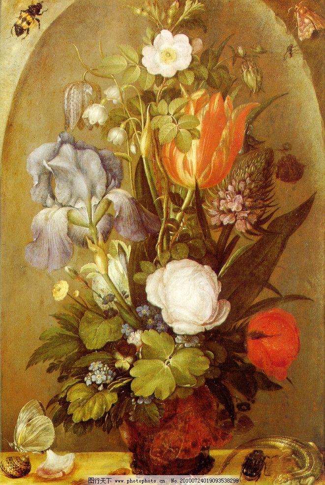 油画 花卉 静物 装饰画 欧式 古典 花朵