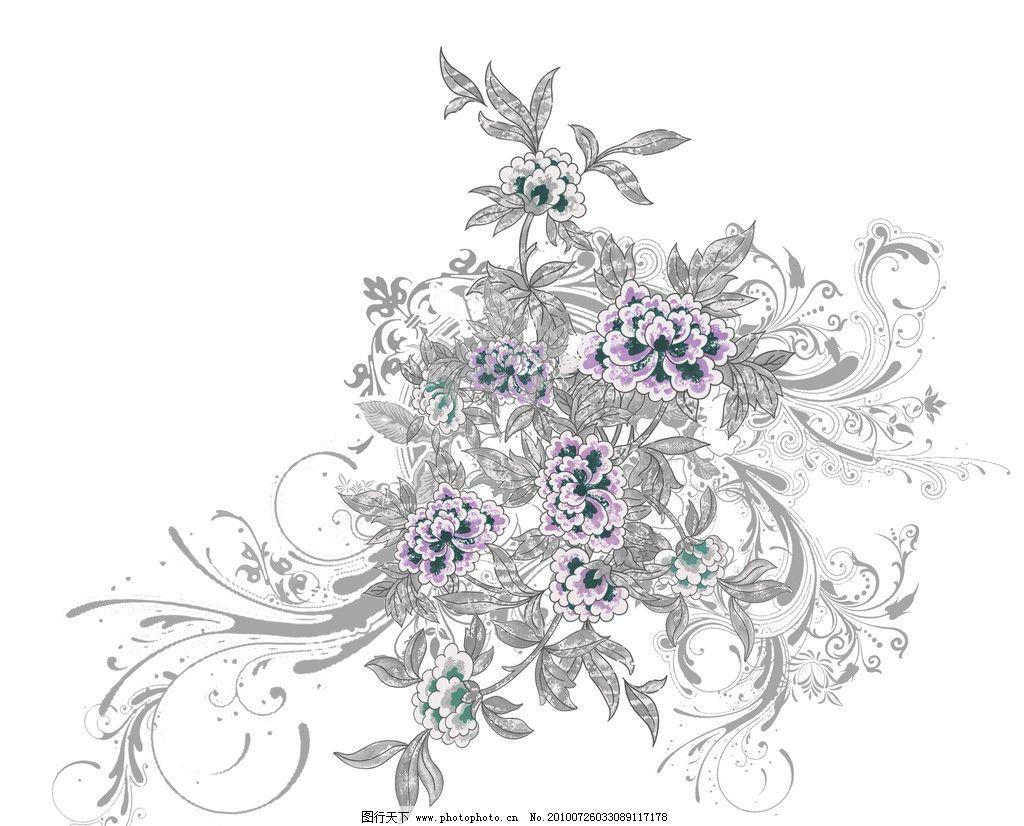 原创手绘花纹 手绘 花纹 分层素材 图案 psd分层素材 源文件 300dpi p