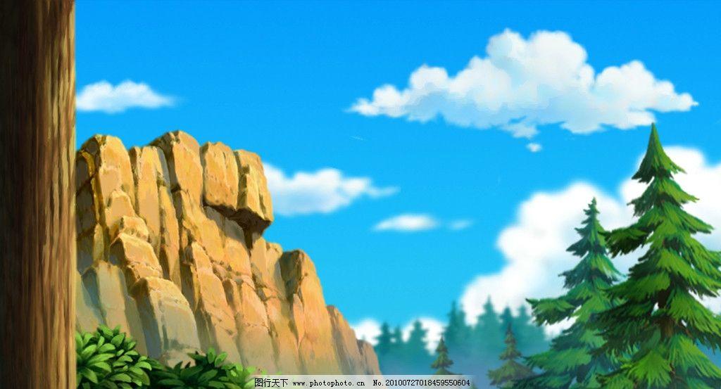 动画背景 树林图片图片