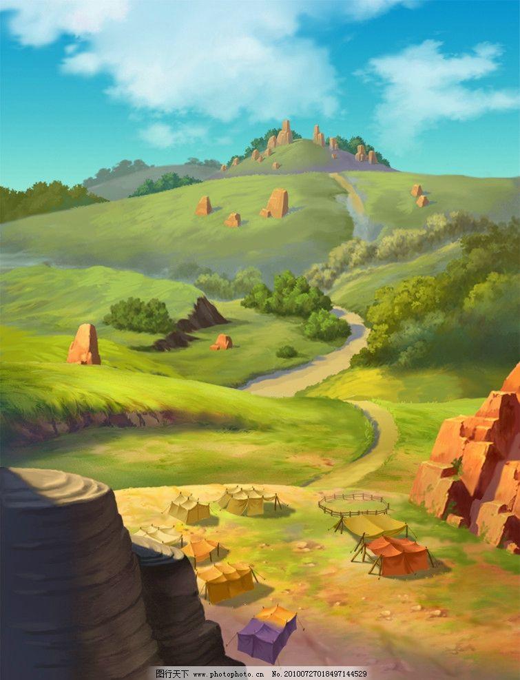 动画背景 连接 通路图片_风景漫画_动漫卡通_图行天下