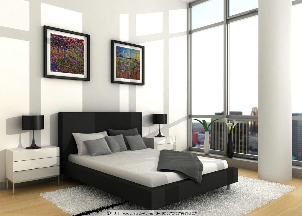 室内高清图片 室内 卧室 床 设计 沙发 家装 装修 家居 地板 台灯 家具 简约 布置 房间 环境设计 JPG 室内设计 300DPI