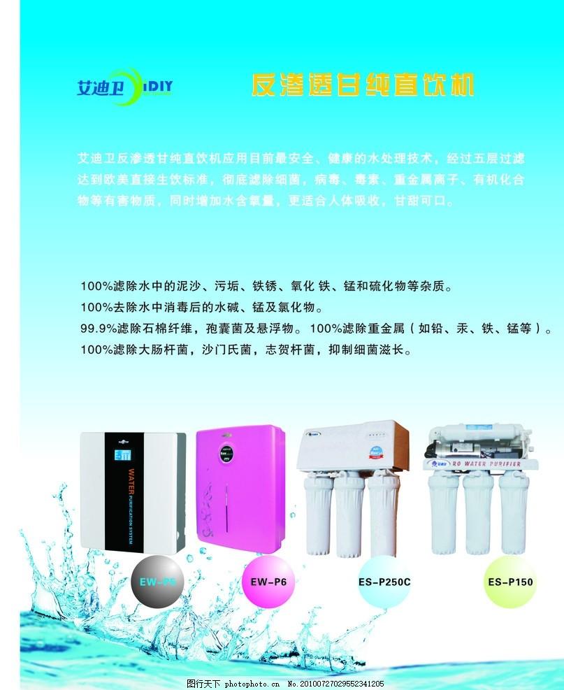 艾迪卫 艾迪卫标志 净水器 水 制度 水珠 广告设计 矢量 cdr