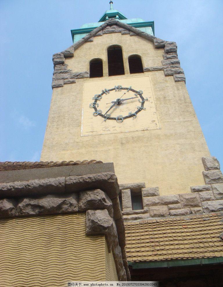 基督教钟楼图片