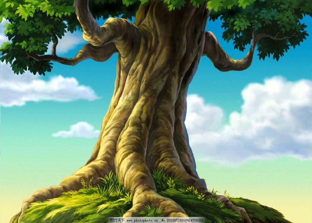 动画背景 孤树图片_风景漫画_动漫卡通_图行天下图库