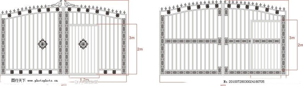 简单大方的欧式铁门