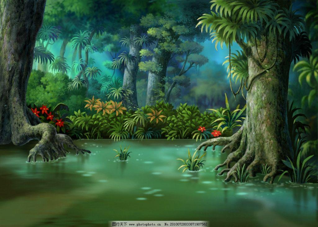 动画背景 森林图片