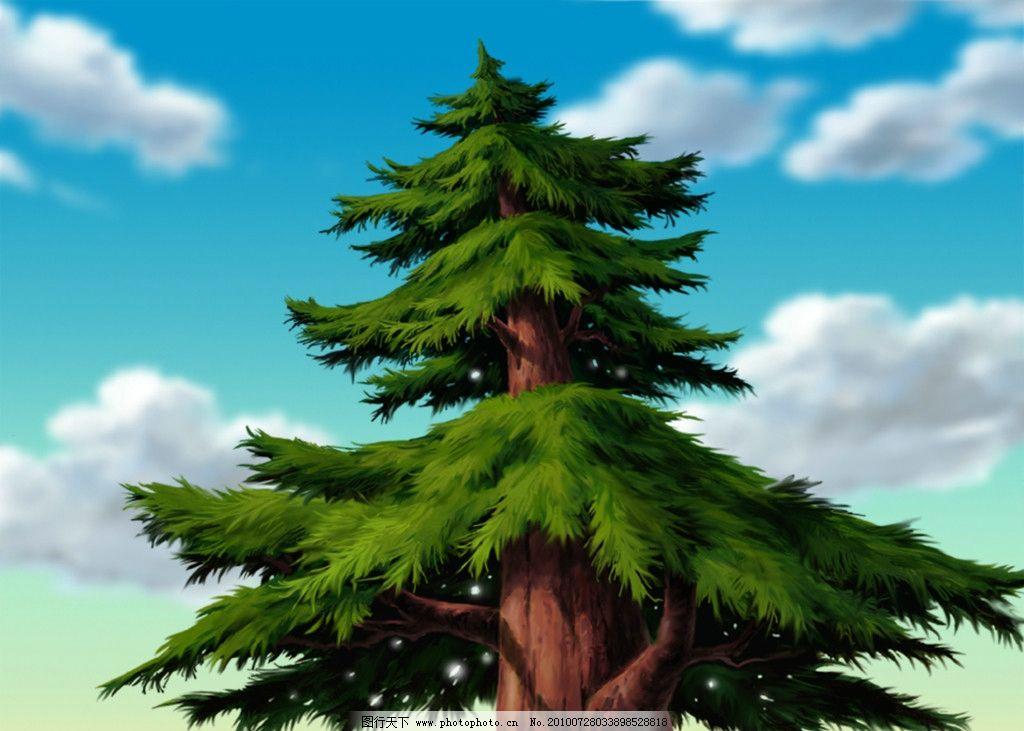 动画背景 红杉树图片_其他图片素材_其他_图行天下图库