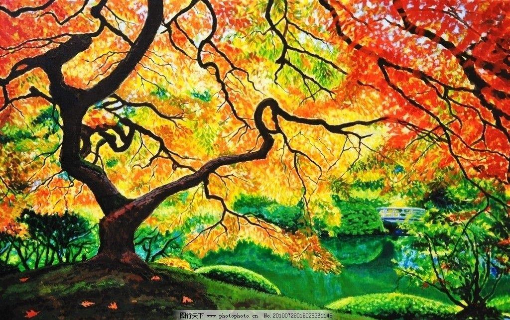 风景 油画 涂鸦 品味 手绘图片
