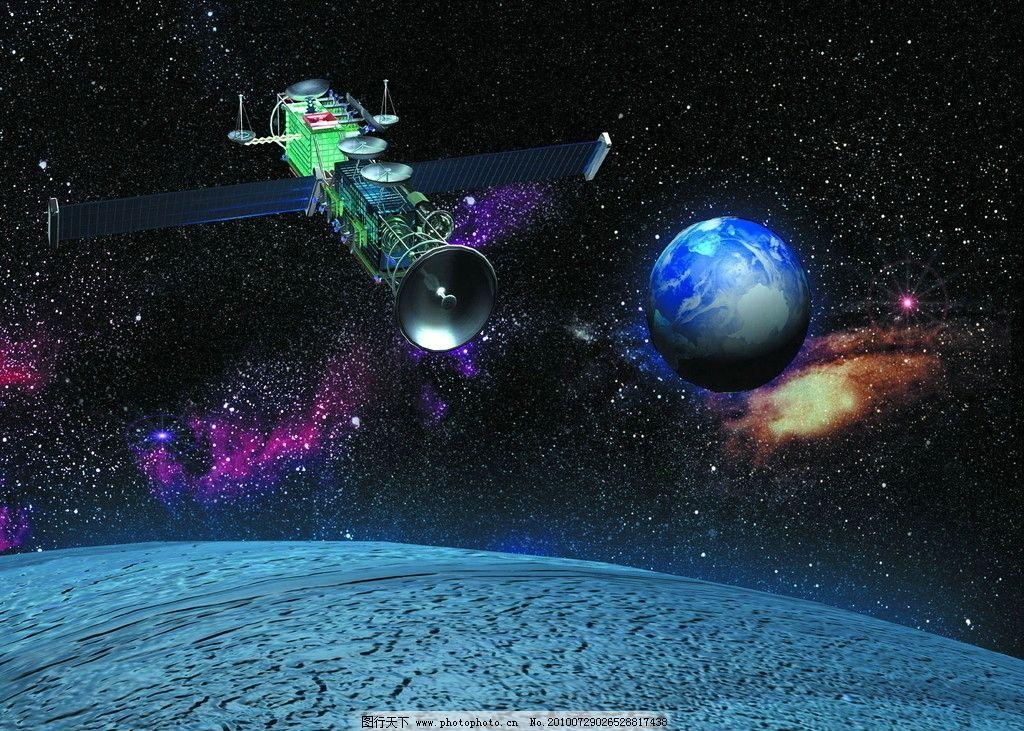 科学太空儿童简笔画彩色