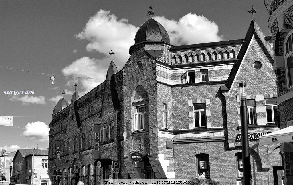 欧式建筑 建筑 黑白 怀旧