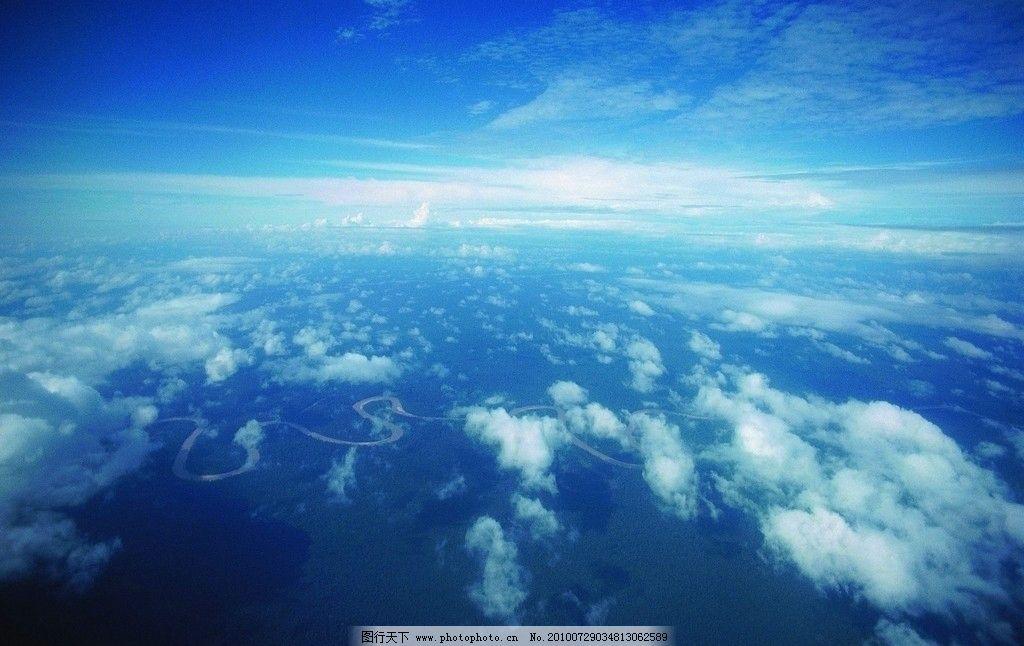 白云 天空 云层 蔚蓝 湛蓝 风景 摄影