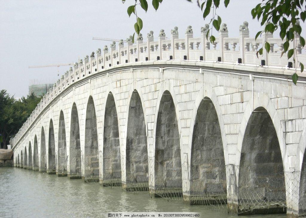 拱桥 西湖石桥 石狮子 桥 石桥 水 湖水 山水风景 自然景观 园林建筑