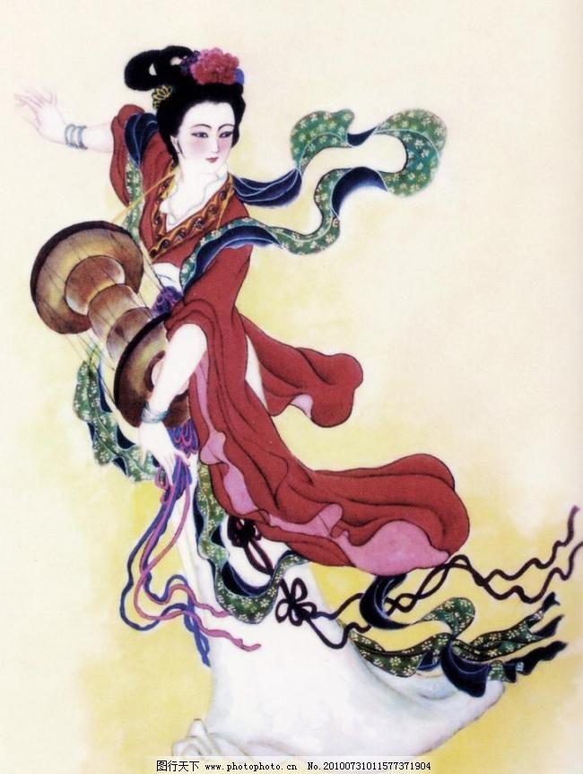 美丽 人物 仕女 画 中国画 水墨画 人物画 现代国画 人物 古代人物