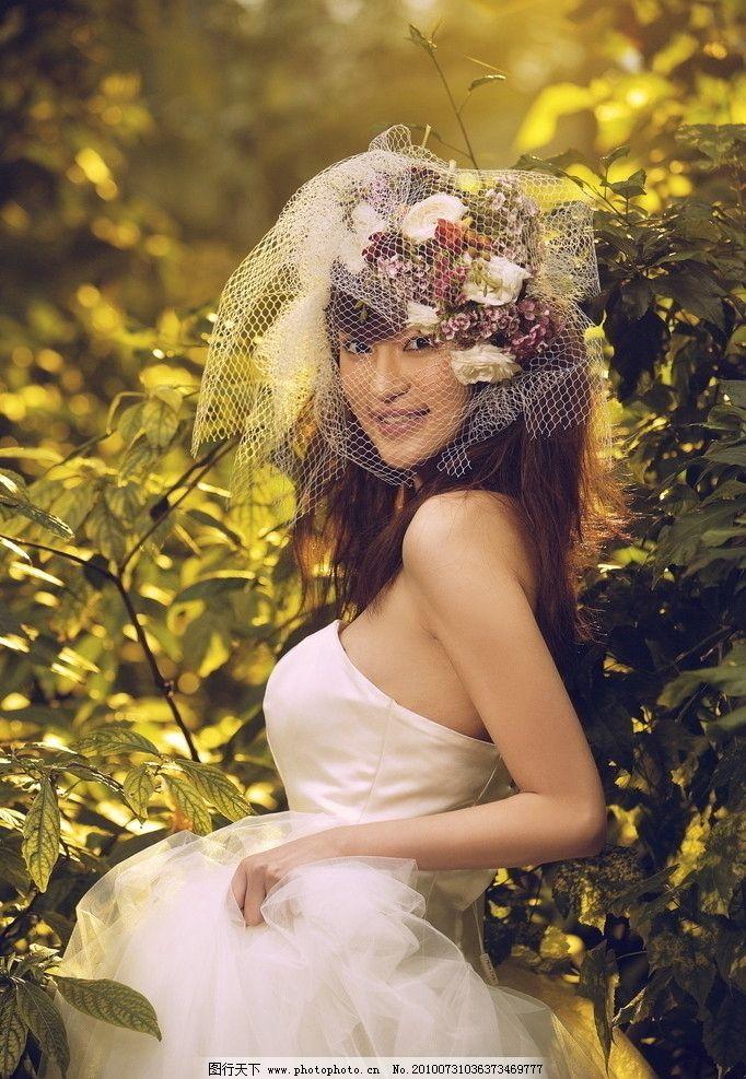 赤雪 婚纱 写真 北京现代音乐学院 美女歌手 明星偶像 人物图库 摄影