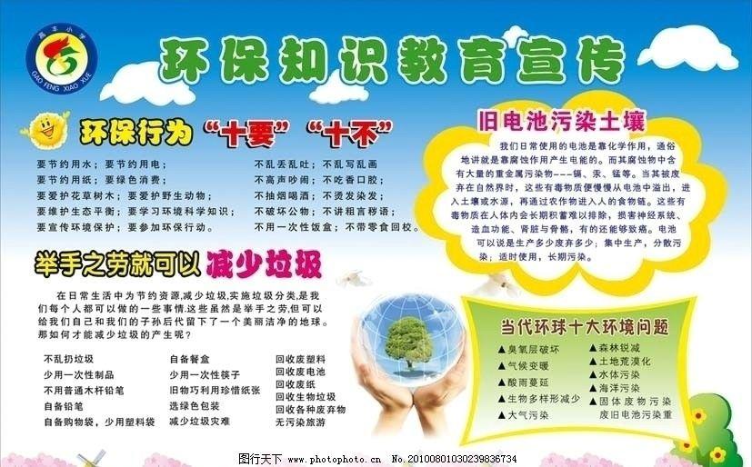 小学环保宣传栏 小学 环保 宣传栏 展版 展板模板 广告设计 矢量 cdr