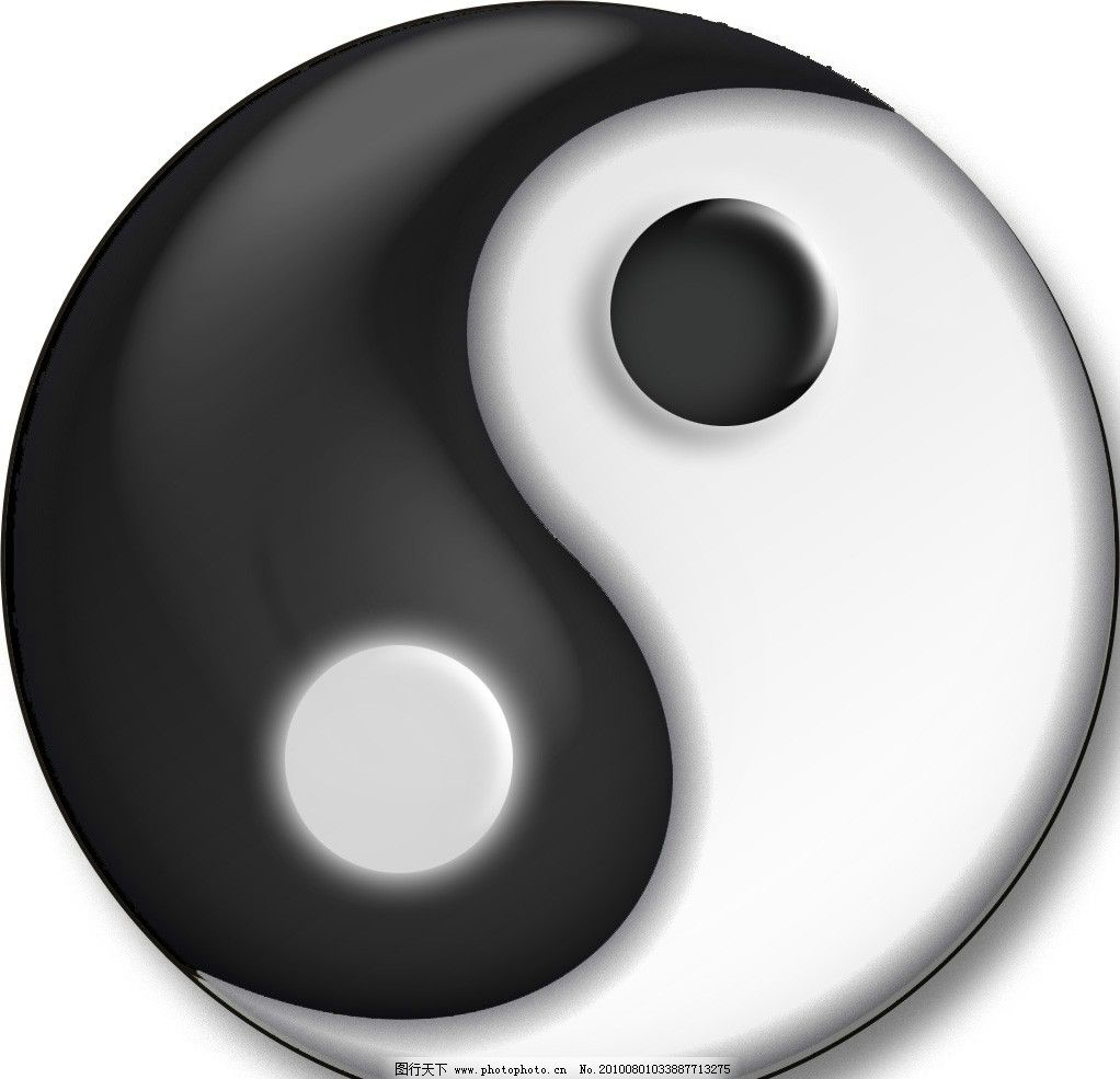 太极 黑 白 图案 圆形 鱼 psd设计图 其他 源文件 300dpi psd