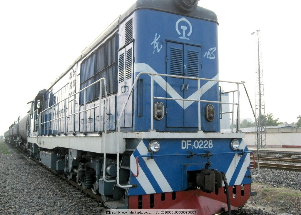 火车头 侧面 列车 东风经典车型 北京二七机车厂 武局江段 蓝色