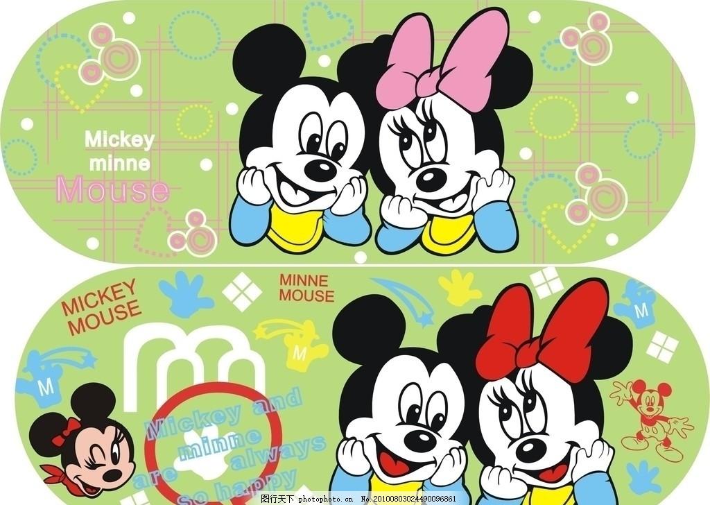 米奇 迪斯尼卡通 可爱卡通 卡通元素 边框背景 卡通背景 蝴蝶结 爱心