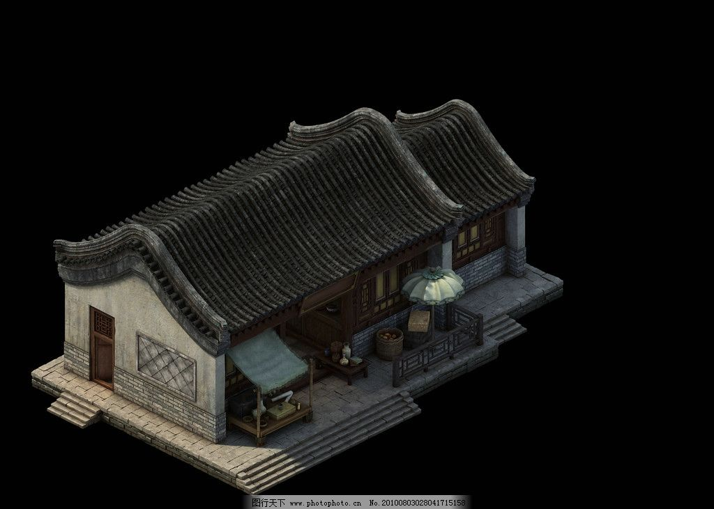 3d游戏建筑房子 3d建筑 房子 古代建筑 古代房子 3d建筑设计 建筑设计