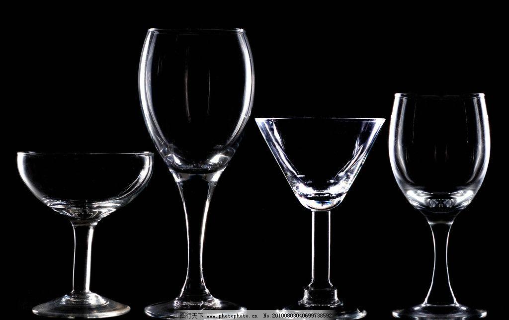 高脚杯 酒杯 红酒杯 杯子 黑白 轮廓 摄影