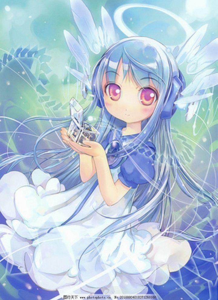 动漫人物女生蓝色