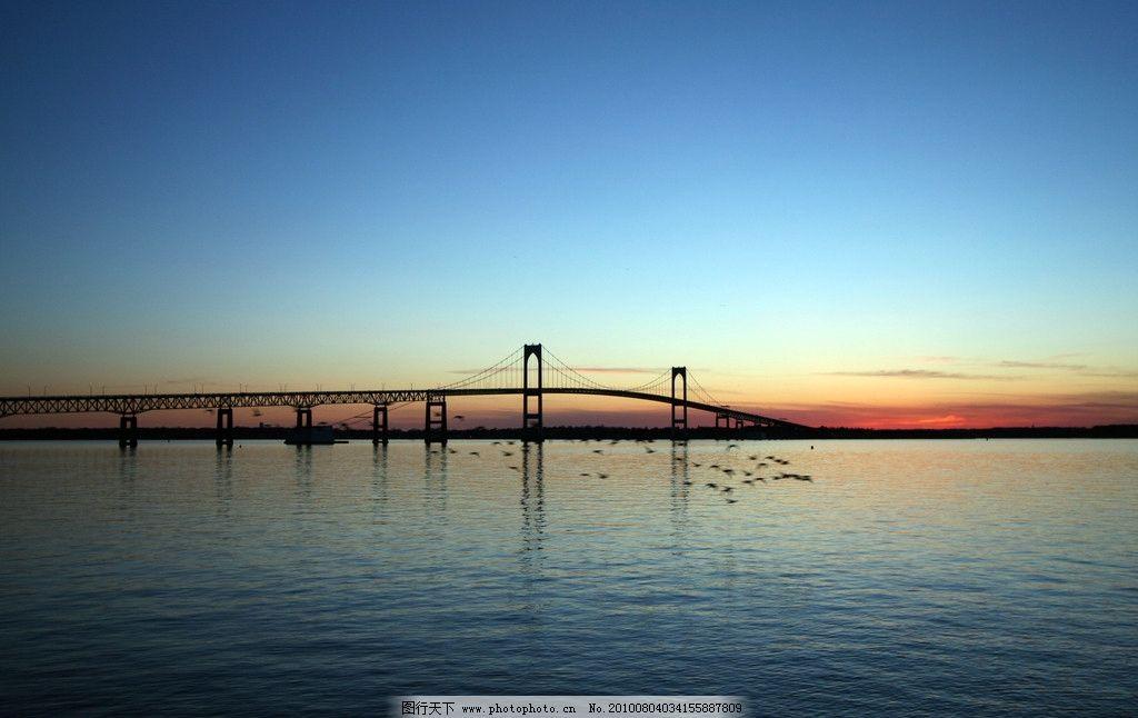 夕阳下的桥 大海 夕阳中的大海 自然风景 旅游摄影