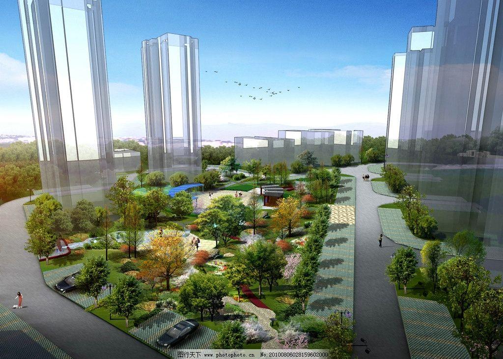 小区广场 广场设计 规划 停车位规划 植物搭配 小区绿化 道路优化