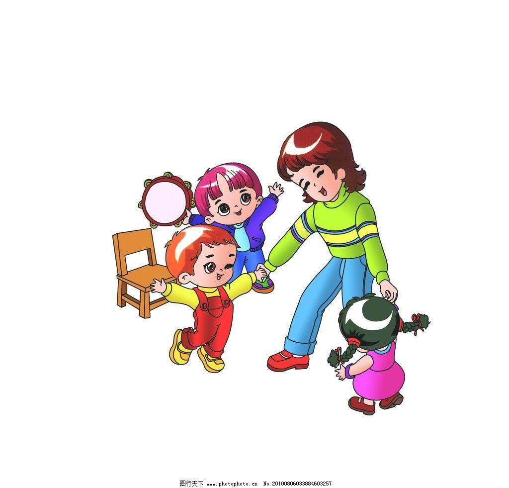 幼儿园的老师和小朋友图片