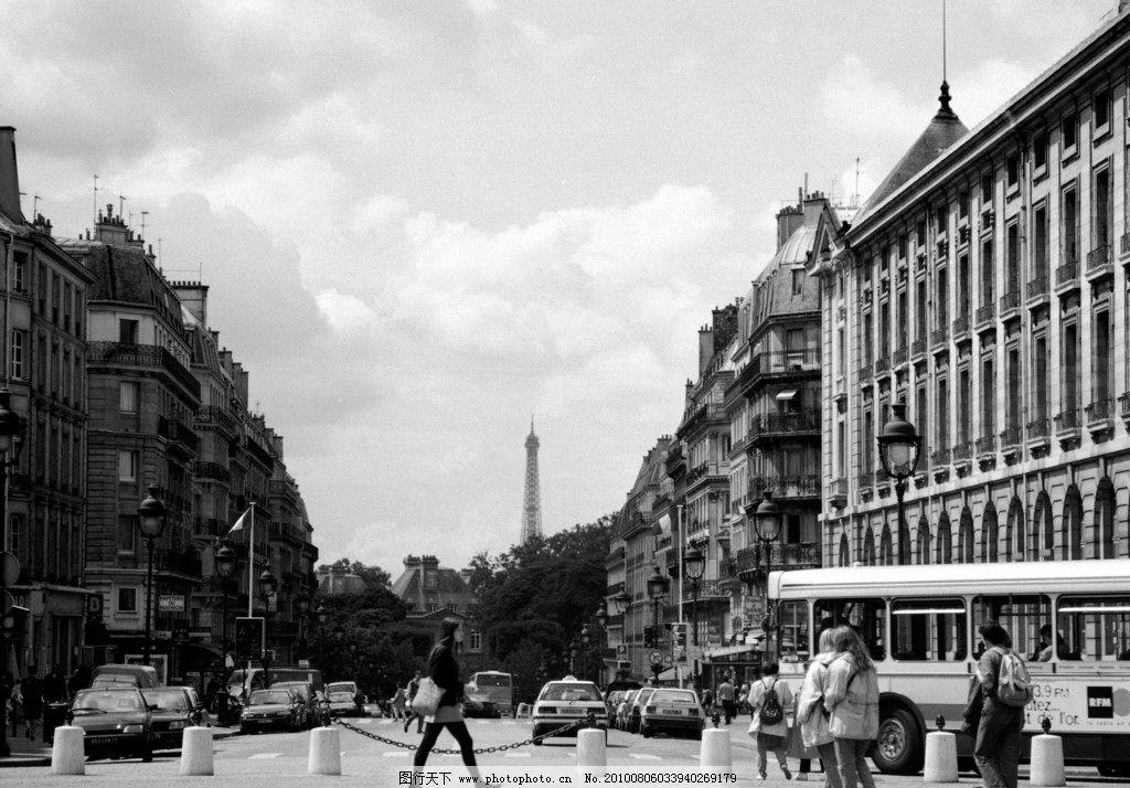 欧洲广场 黑白 欧洲 广场