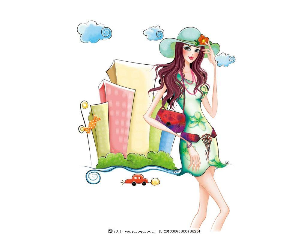 手绘时尚美女 手绘时尚美女图 美女 手绘 时尚 动漫人物 动漫动画
