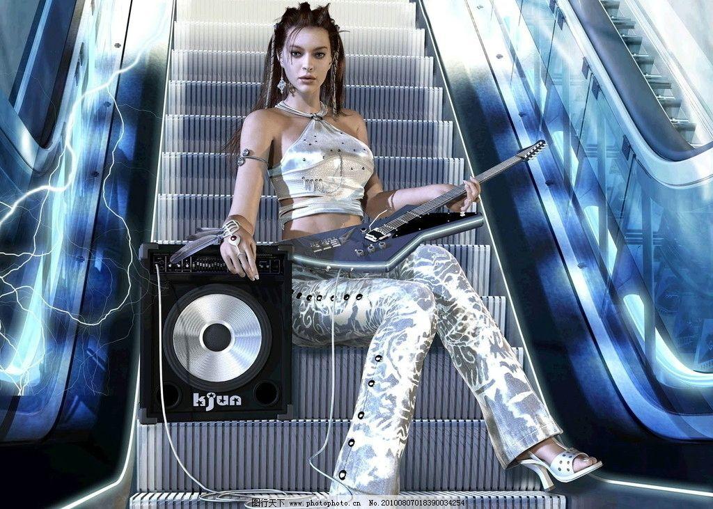 气质女人 美女 壁纸 性感 女人 音乐 吉他 电脑桌面 韩国 明星 网游
