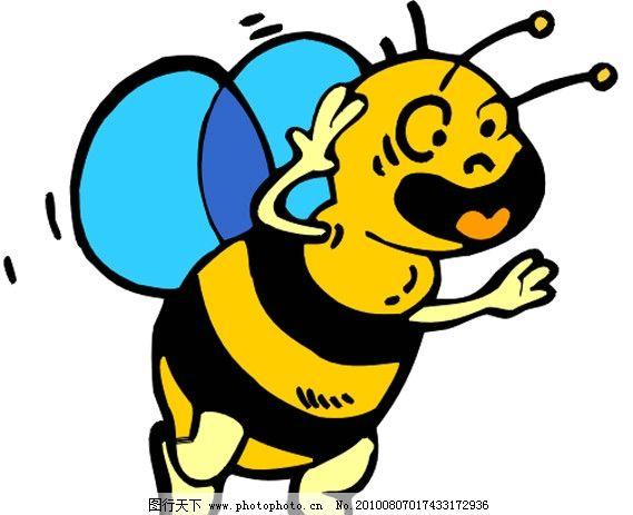 蜜蜂 调皮 可爱 卡通 漫画 矢量素材 可爱卡通动物 其他生物 生物世界