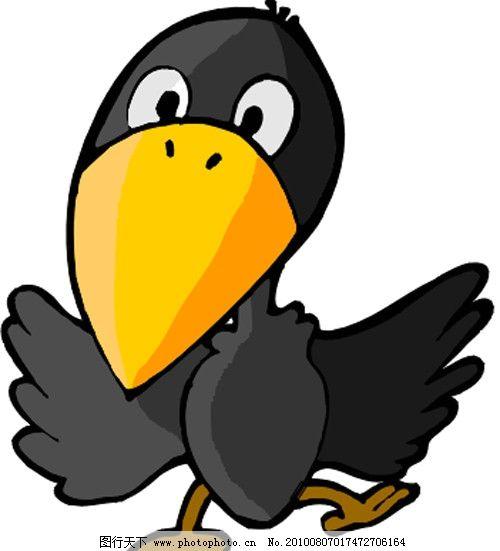 乌鸦 可爱 卡通 漫画 矢量素材