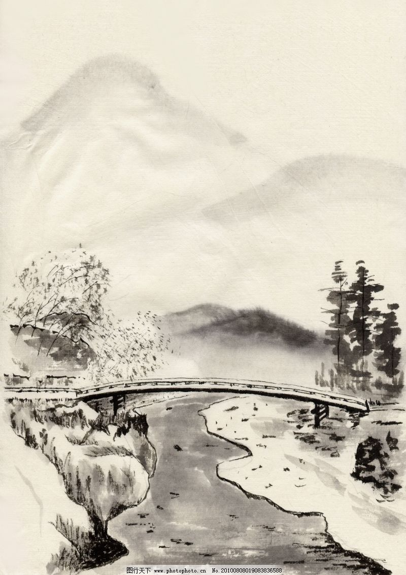 中华文化篇 古代风景 春意融融 小桥流水人家的感觉