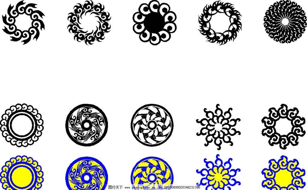 古典圆形矢量边框花边图片