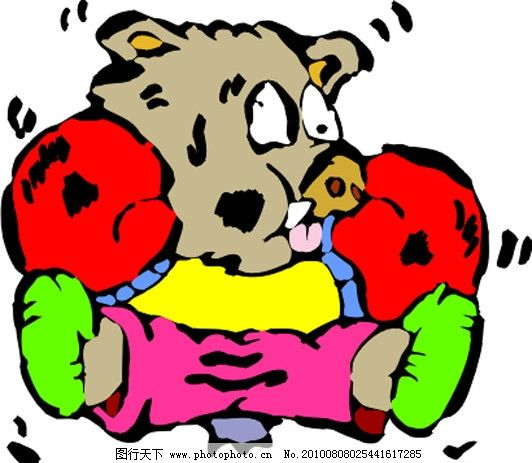 野猪 可爱 卡通 漫画 矢量素材 可爱卡通动物 其他生物 生物世界 矢量