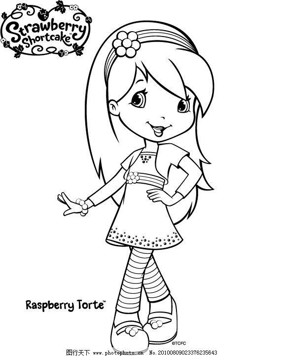 可爱娃娃简笔画手绘线