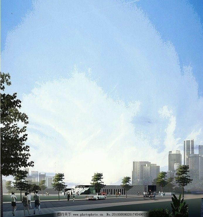 建筑效果图 景观设计 建筑外景 手绘效果图 手绘景观 马克笔 水彩
