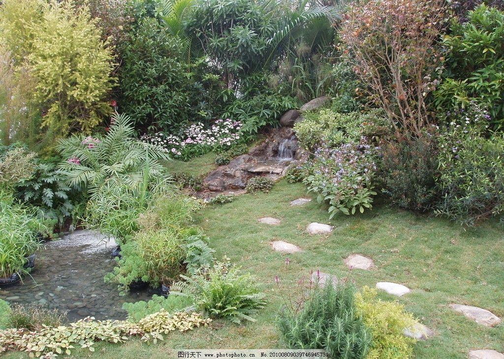 园林 小路 石头 花草 风景树 绿化 园艺景观 建筑园林 摄影