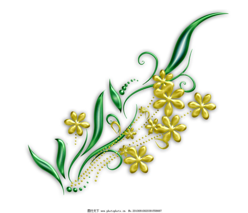 花边边框 鲜花 叶子 线条 边框 花边花纹 底纹边框 设计 118dpi png