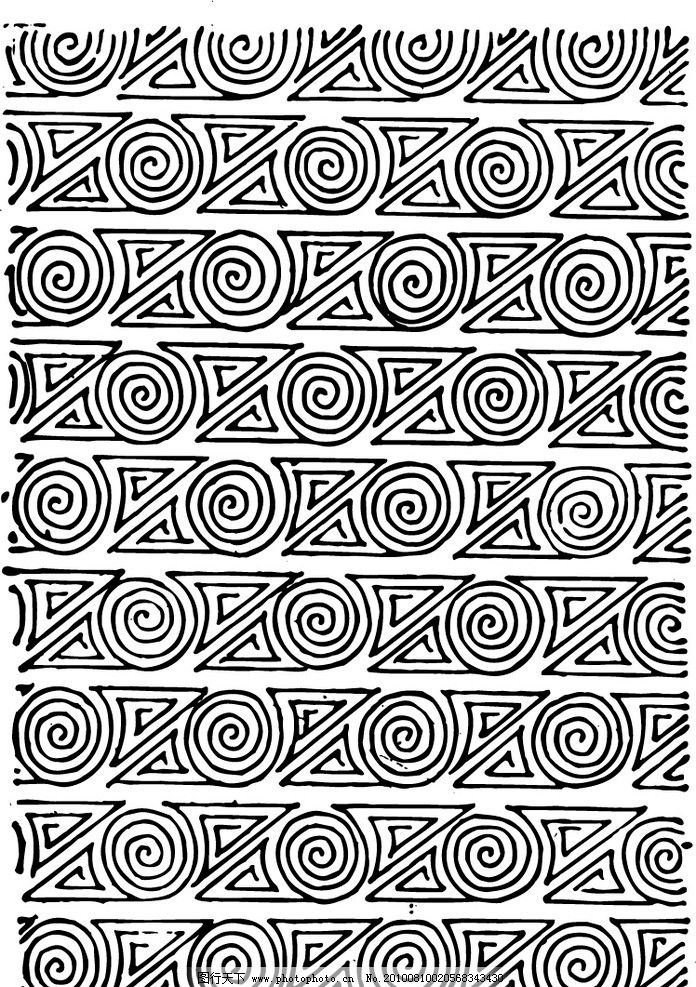 战国春秋 战国 青铜 底纹 古代图案 条纹线条 底纹边框 矢量 ai