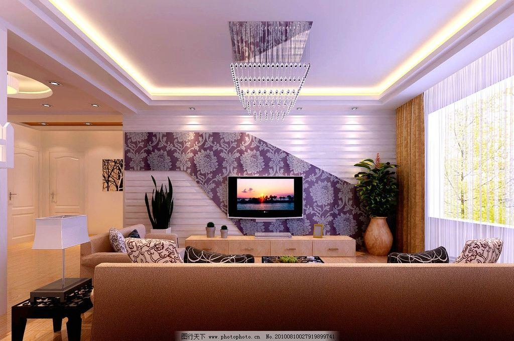 客厅形象墙 电视形象墙 天花板 电视 室内设计 环境设计 设计 300dpi