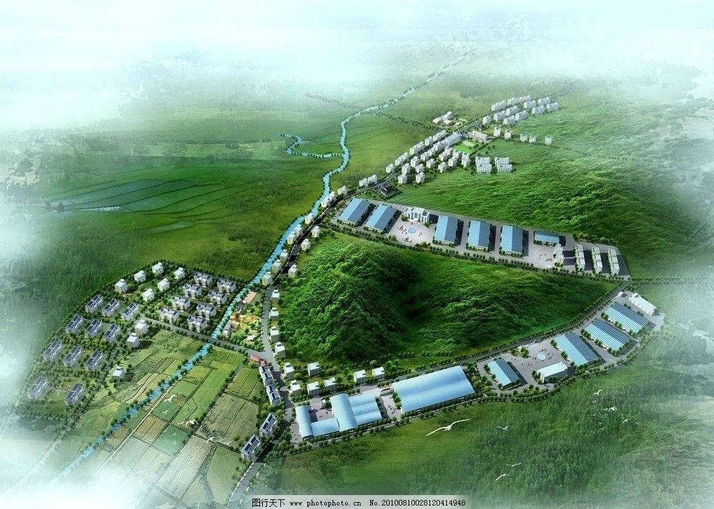 建瓯新农村效果图图片_景观设计_环境设计_图行天下